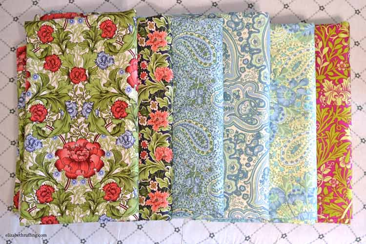 Art Nouveau cotton print fabrics