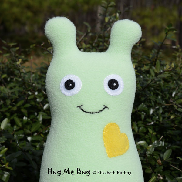 Fleece Hug Me Bug Art Toys by Elizabeth Ruffing, mint green
