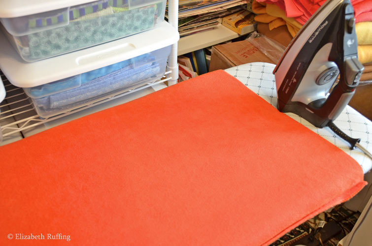 Ironing wrinkles out of fleece fabric by Elizabeth Ruffing