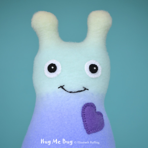 Rainbow Hug Me Bug, original art toys by Elizabeth Ruffing