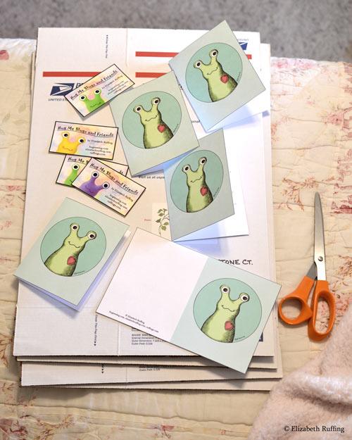 Hug Me Slug greeting cards by Elizabeth Ruffing
