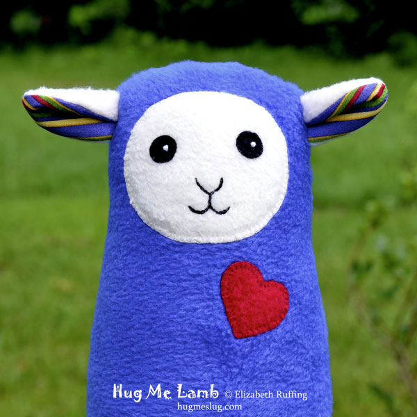 Plush Stuffed Animal Art Toys, Hug Me Lambs by Elizabeth Ruffing