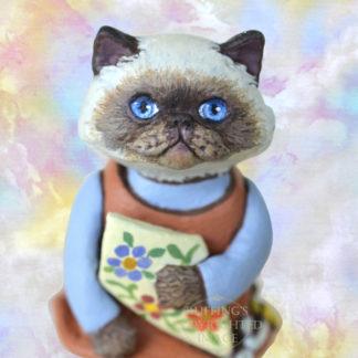Miniature Original Himalayan Cat Art Doll Kitten Figurine, Maura by Max Bailey