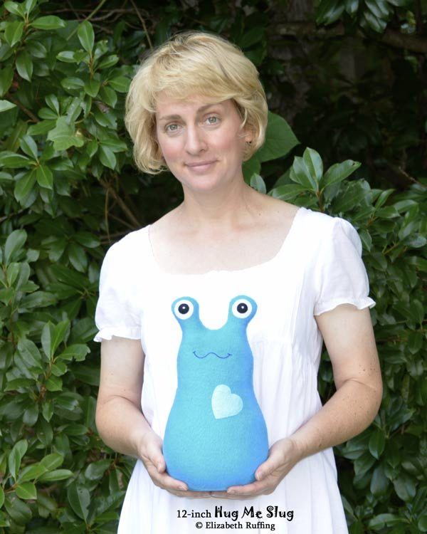 Handmade Hug Me Slug Stuffed Animal Plush Art Toy, 12 inch