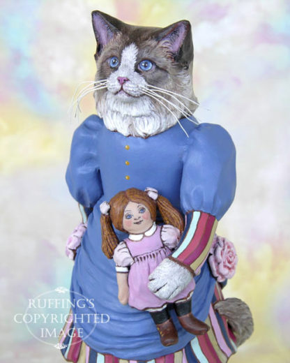 Maryanne the Ragdoll Cat, original cat art doll by artist Max Bailey