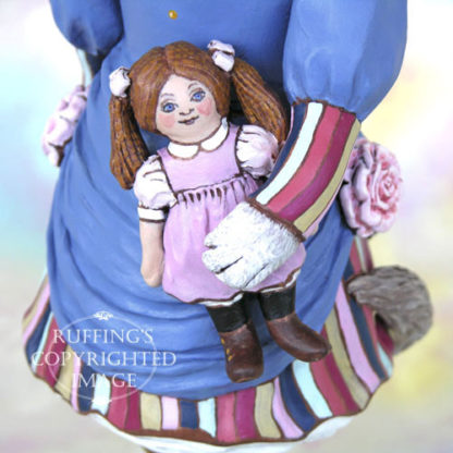 Maryanne the Ragdoll Cat, original cat art doll with her own rag doll by artist Max Bailey